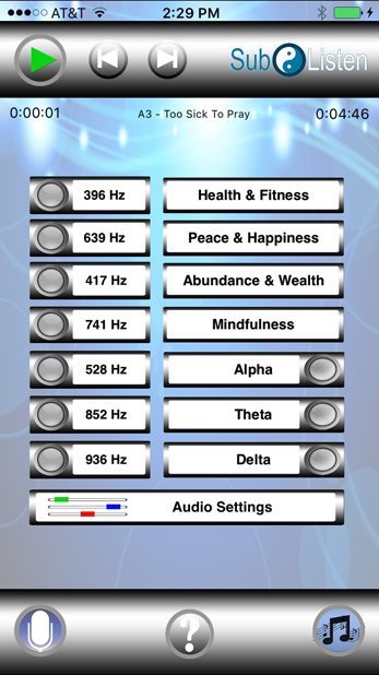 SubListen For Android App: Subliminal Affirmations